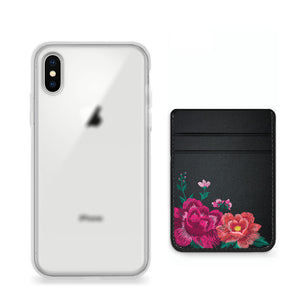 Pack funda y pocket para celular - Floral Embroidery
