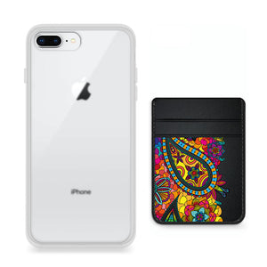 Pack funda y pocket para celular - Hippie Colors