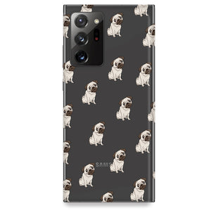 Funda para Samsung Galaxy Note - Pug Pattern