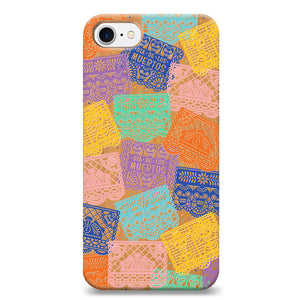 Funda Unique Cases de Madera para Celular - Papel Picado