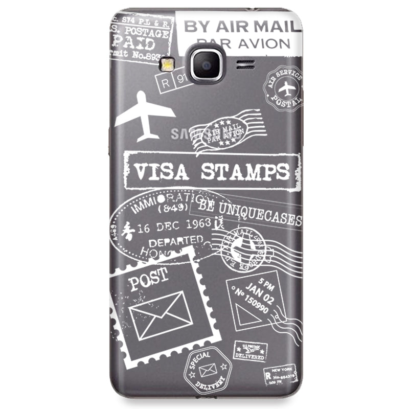 Funda para Samsung Galaxy Grand Prime - White Stamps