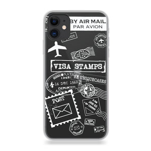 Funda para celular - White Stamps - Unique Cases
