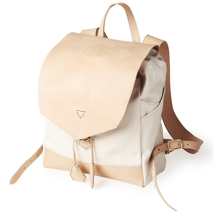 Mochila de Piel y Canvas THE ROADSTER Color crudo