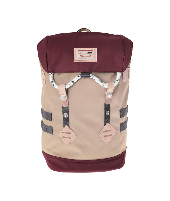 Mochila COLORADO SMALL BEIGE Y GRANATE de DOUGHNUT