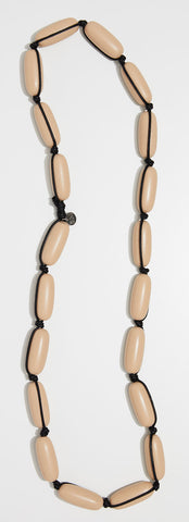 Evie Marques Original necklace Caramel on black cord