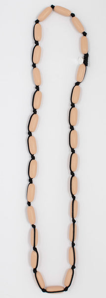 Evie Marques Midi necklace Caramel on black cord