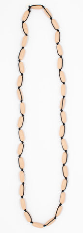 Evie Marques Mini necklace Caramel on black cord
