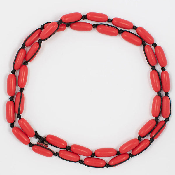Evie Marques Mini necklace Cherry Pie on black cord