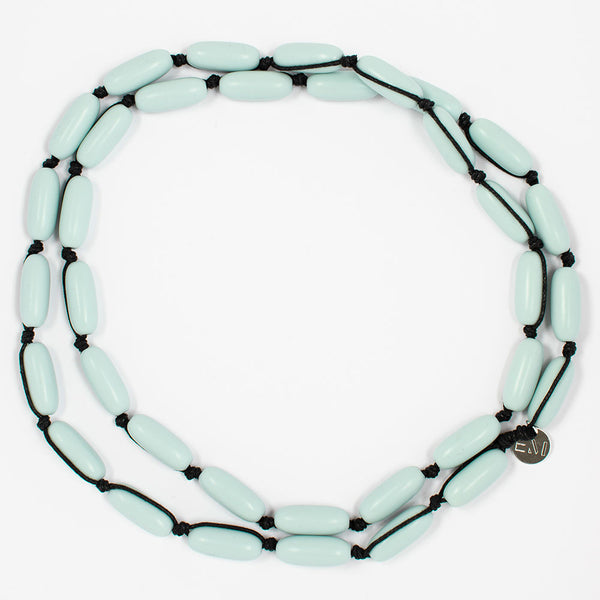 Evie Marques Mini necklace Cloud on black cord