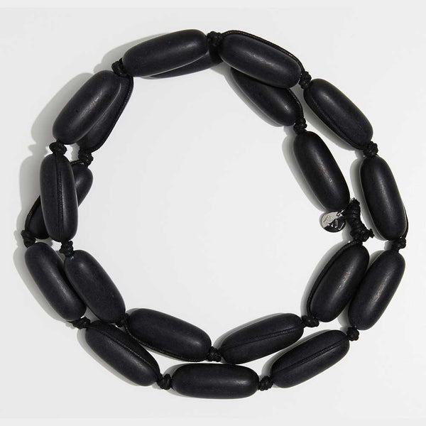 Evie Marques Original necklace Coal on black cord