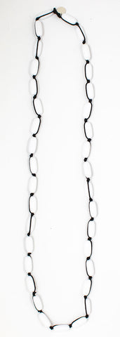 Evie Marques Mini necklace Marshmallow on black cord