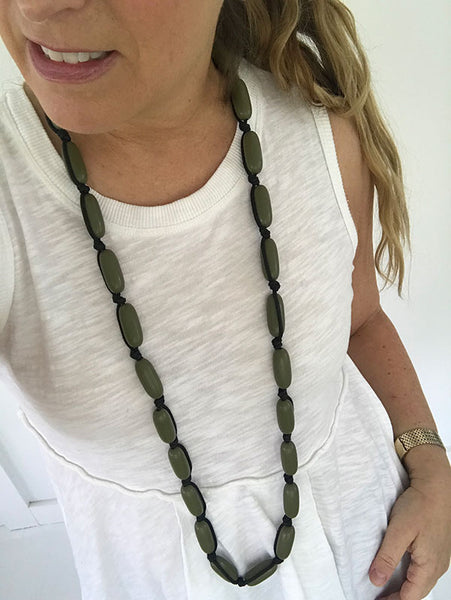 Evie Marques Midi necklace Utility on black cord
