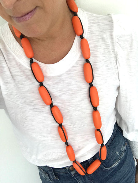 Evie Marques Original necklace Tangy on black cord
