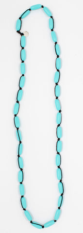 Evie Marques Mini necklace Pool on black cord