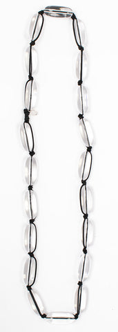 Evie Marques Original necklace Water on black cord