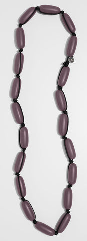 Evie Marques Original necklace Wine on black cord