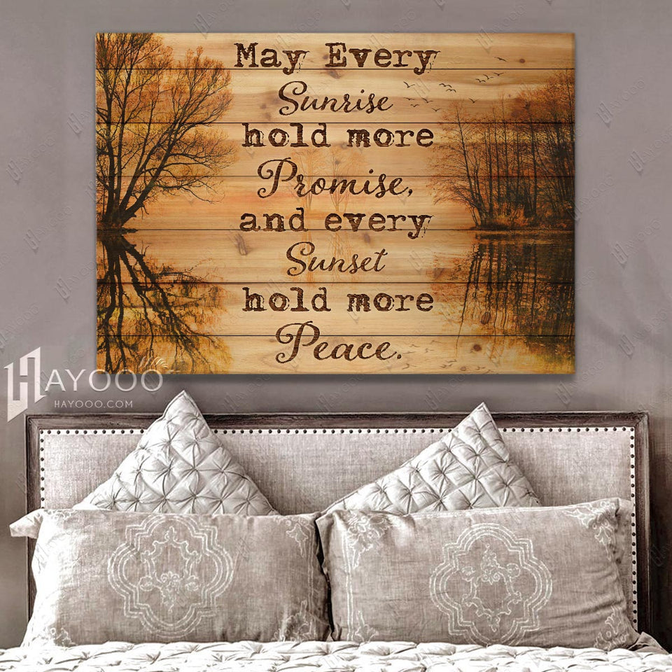 Hayooo May Every Sunrise Hold More Promise Canvas Wall Art Decor