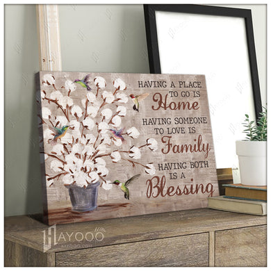Hayooo Having A Place To Go Is Home Cotton Flowers Farmer Canvas Wall Art Decor