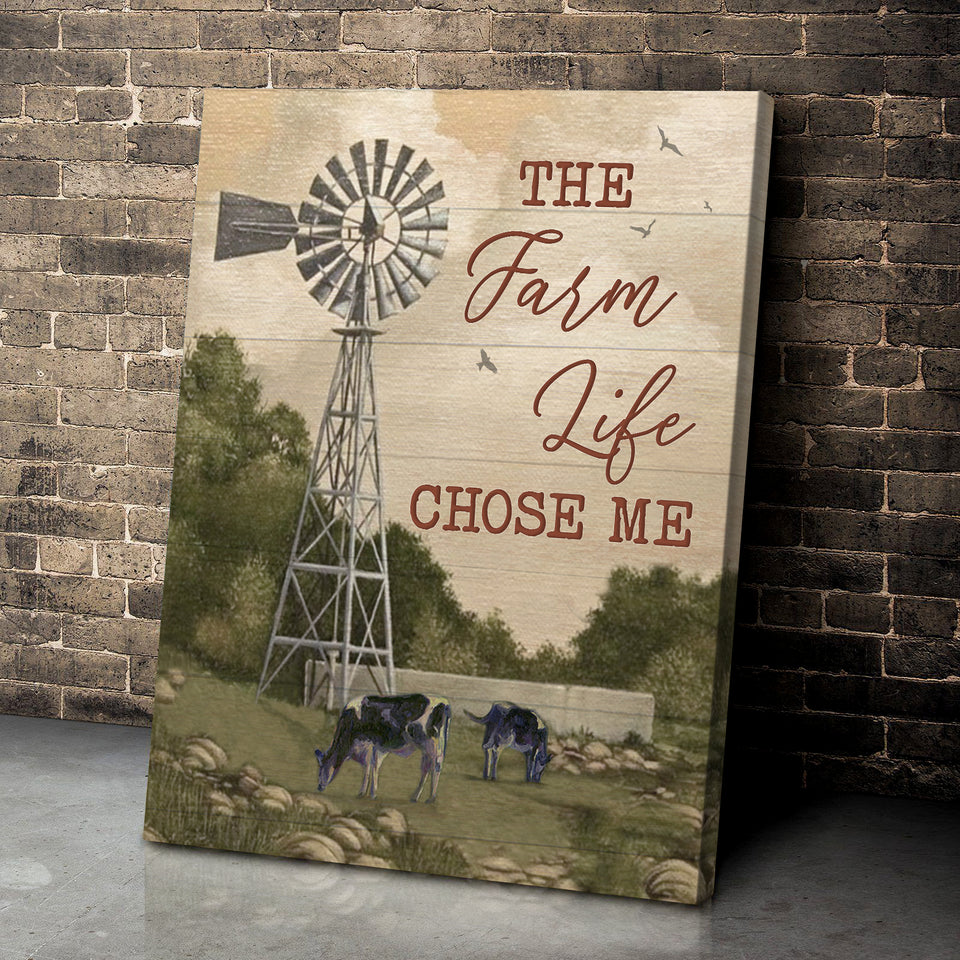 Cow - Canvas - Farm Life's choice ver 2