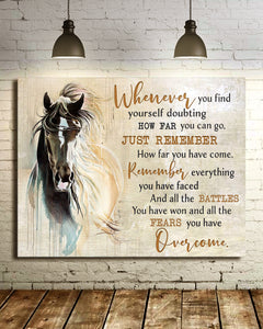 Canvas Horse Whenever You Find Yourself 2