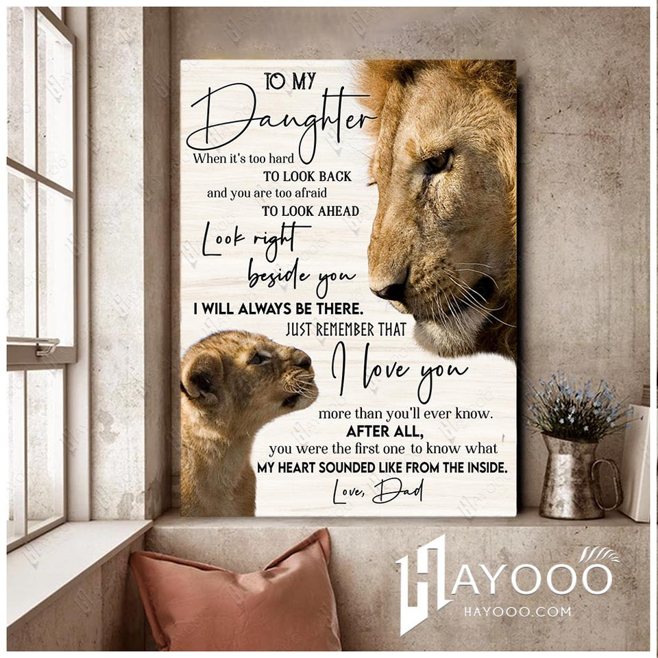 Lion - To my daughter (Dad) - I love you more than you'll ever know