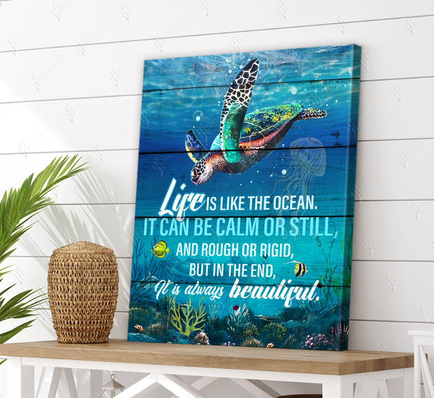 Turtle - Canvas - Life Is