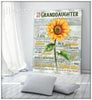 Sunflower Canvas To My Daughter (Love & Hugs,Honey) Be A Sunflower