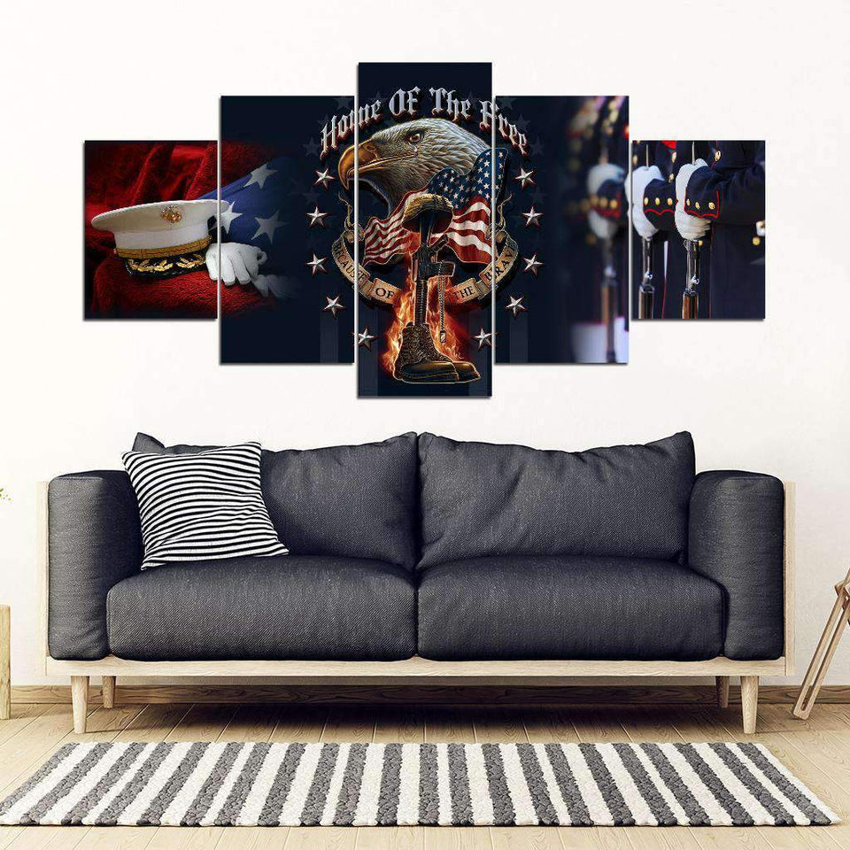 Canvas 5 pieces - Marine - Home of the free - yenyenstore