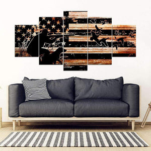 Canvas 5 pieces - Hunting - Duck - yenyenstore