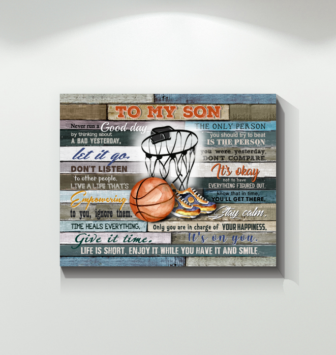 Basketball Canvas To My Son Life Is Short - Hayooo Shop