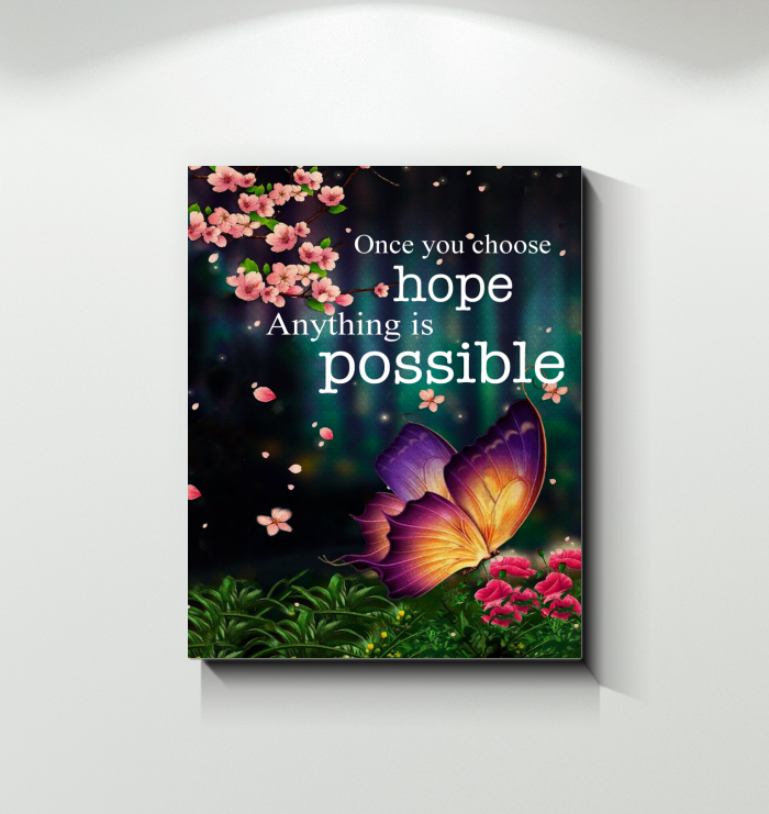 Canvas Butterfly Anything Is Possible