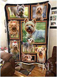 Hayooo Blanket Dog Cute Yorkshire Terrier