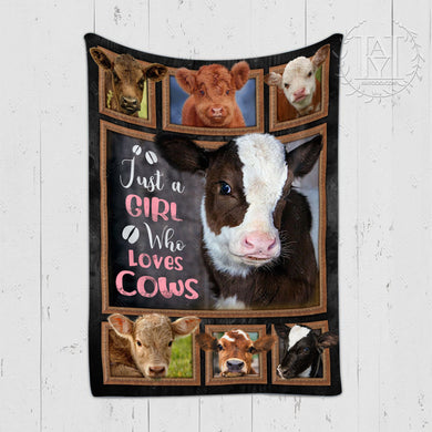 Hayooo Blanket Cow Just A Girl Who Loves Cows
