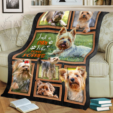 Hayooo Dog Blanket Just A Girl Who Love Yorkies