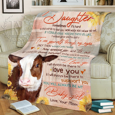 Hayooo Cow Blanket To My Amazing Daughter How Much You Mean To Me