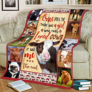 Hayooo Fleece Blanket Cow Once Upon A Time