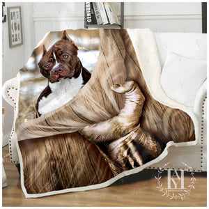Hayooo Blanket Customized Fleece Blanket Pitbull