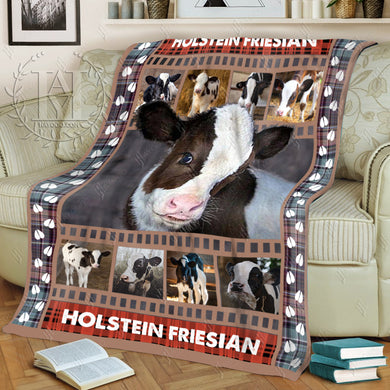 Hayooo Fleece Blanket Cow Holstein Friesian