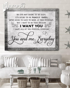 Love - Canvas - You and me... everyday