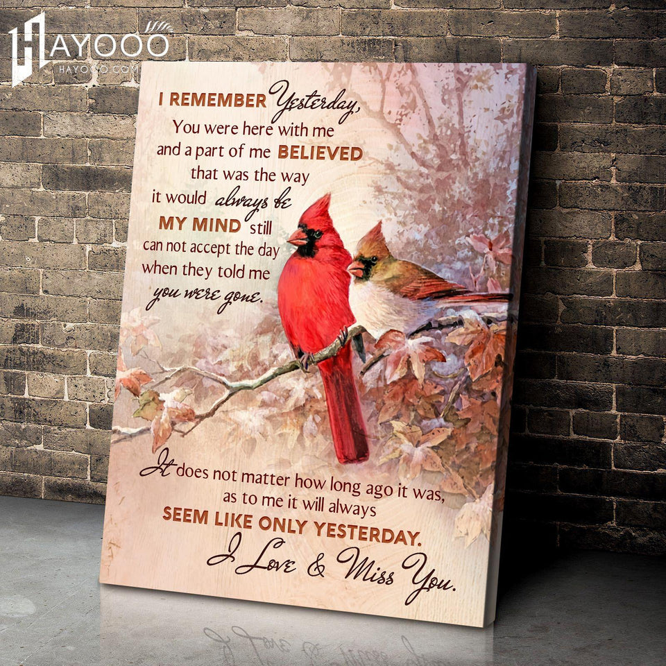Cardinal Canvas I Remember Yesterday - Hayooo Shop