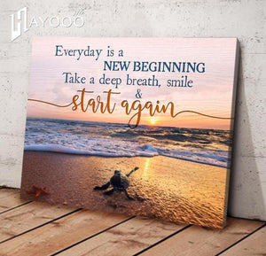 Turtle - Canvas - Everyday is a new beginning Ver.2