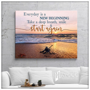 Turtle Canvas Everyday Is A New Beginning Ver.2 - Hayooo Shop