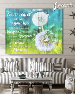 Dandelion Canvas Never Regret - Hayooo Shop
