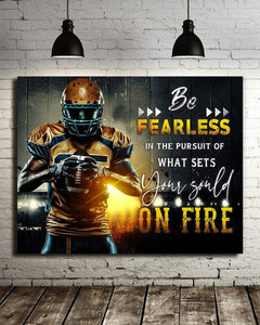 Football - Canvas - Be fearless