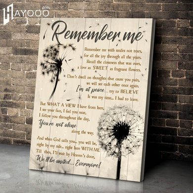 Dandelion - Canvas - Remember Me