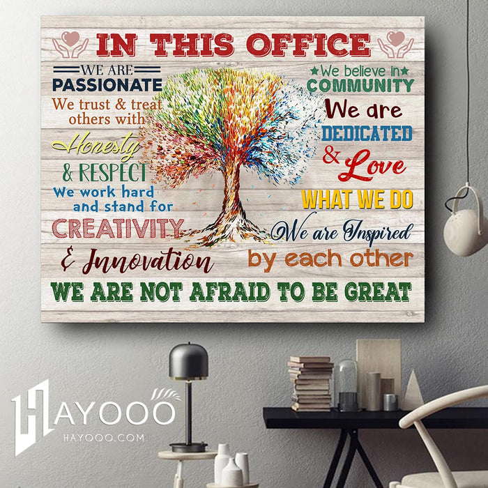 CUSTOM CANVAS IN THIS OFFICE We are not afraid to be great wall art decor for Office design idea