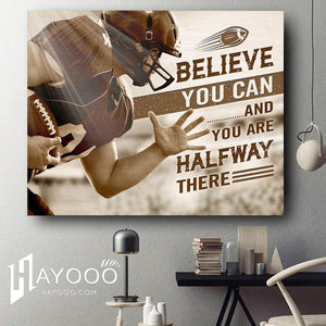 Football - Canvas - Believe you can