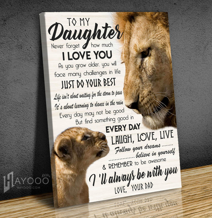 Lion - Canvas - To my daughter (Dad) - Always be with you