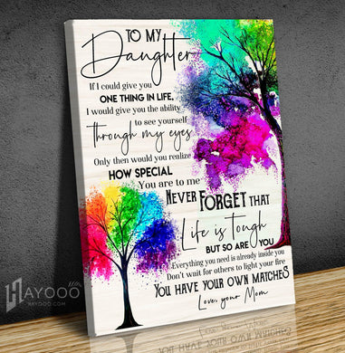 Family Tree Canvas To My Daughter (Mom) You Have Your Own Matches - Hayooo Shop
