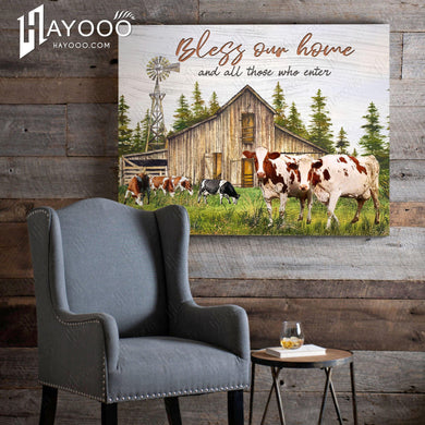 Cow - Canvas - Bless our home
